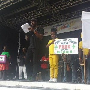 Emancipation Day closing speech at Leicester Carnival, which was followed by the 1 Minute Silence#WeWalkedTheWalk#Historical!!!