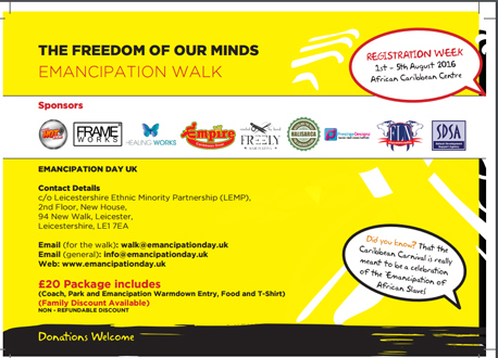 Freedom Of Our Minds Emancipation Walk